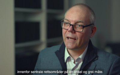 Advokat Geir Hansen i Advokatfirmaet Robertsen AS om Nyhetsportalen for løpende, faglig oppdatering som advokat.